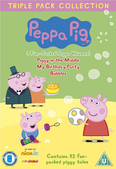 Angličtina pro děti - Peppa Pig - Piggy in the Middle, My Birthday Party, Bubbles (3x DVD film)