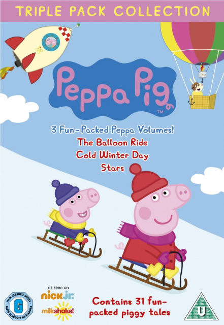 Angličtina pro děti - Peppa Pig - Balloon Ride, Cold Winter Day and Stars (3x DVD film)